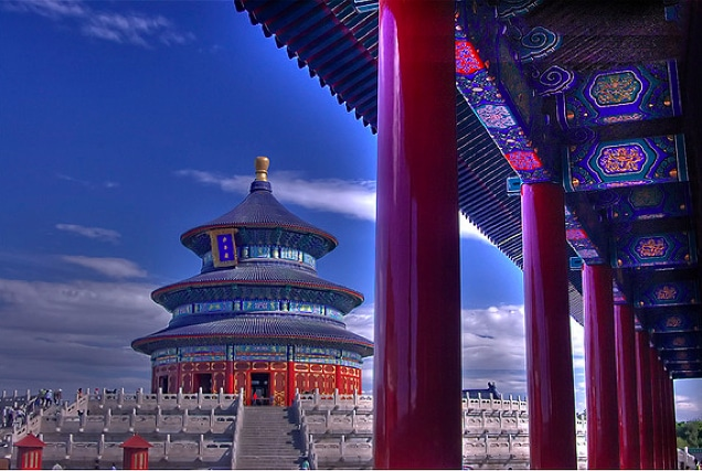A painting of top tourist destination: Beijing