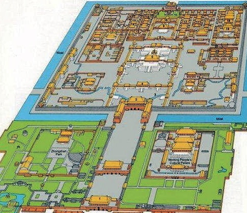 Map of The Forbidden Palace