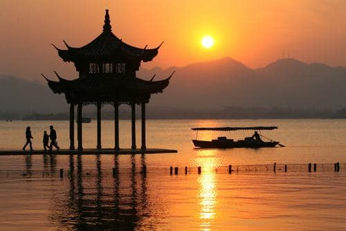 Picture during a Hangzhou sunset