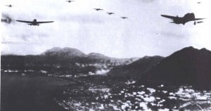 japanese planes attacking hong kong WWII