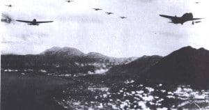 japanese planes attacking hong kong WWII