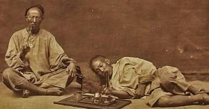 old photo smoking opium
