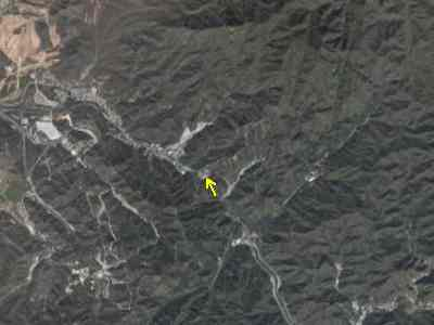 View of the Great Wall from space. Can you see it?