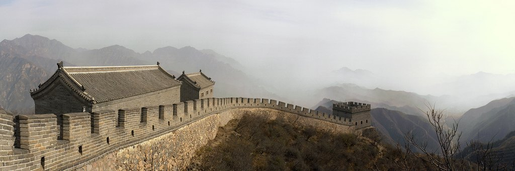 A beautiful view of the Great Wall in China