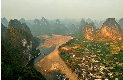 china travel li river guilin sunset