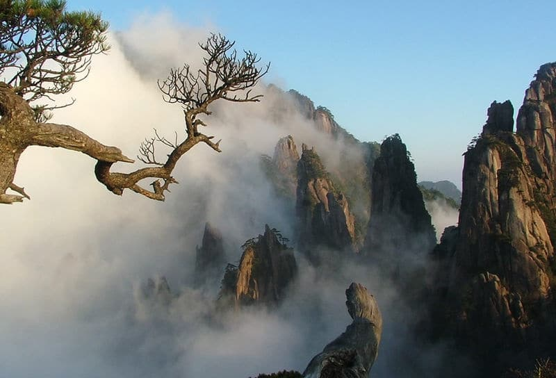 A picture of the scenery at Huangshan