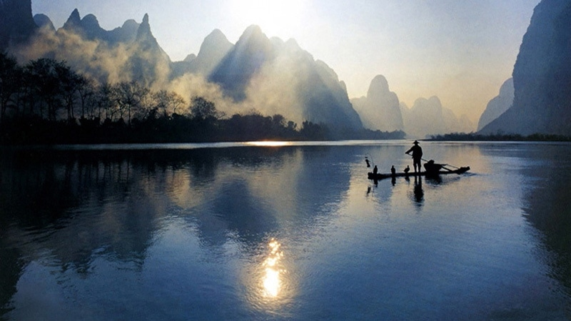A very relaxing picture of the popular destination: Guilin & Yangshuo