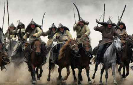 Mongols invading China on horseback