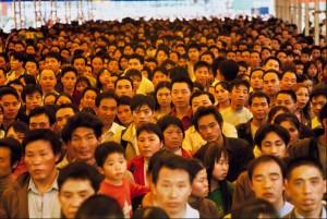 china chinese crowds waiting at rail way train station