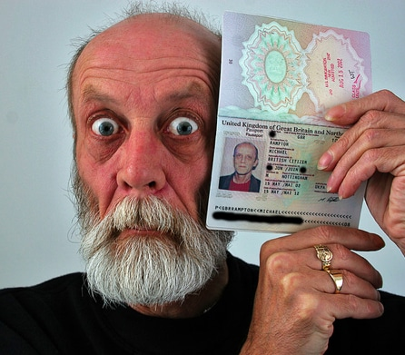 funny foreigner man in china passport