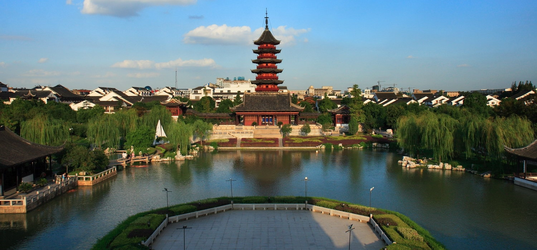 A beautiful scene over water in Suzhou
