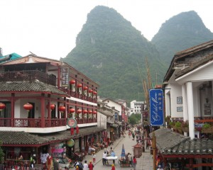 street view of Xi Lu foreigner street china travel tourists