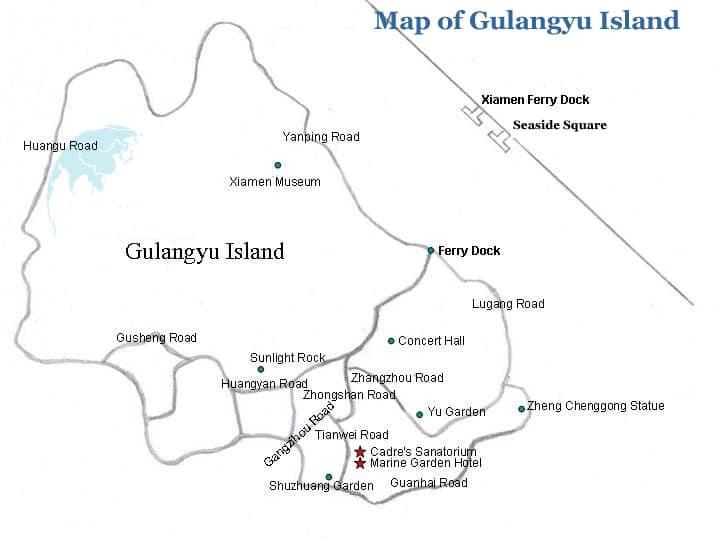 Map Xiamen.Maps Of Xiamen Gulangyu China Mike