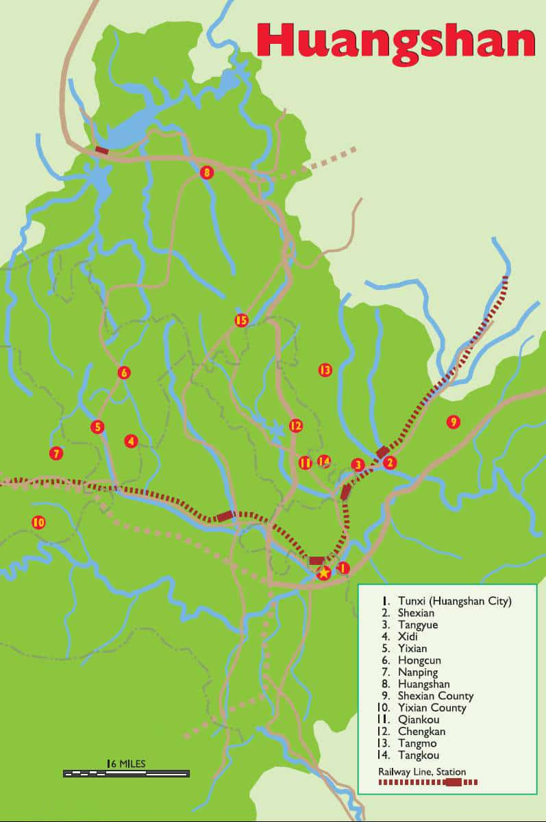 Maps of Huangshan | China Mike