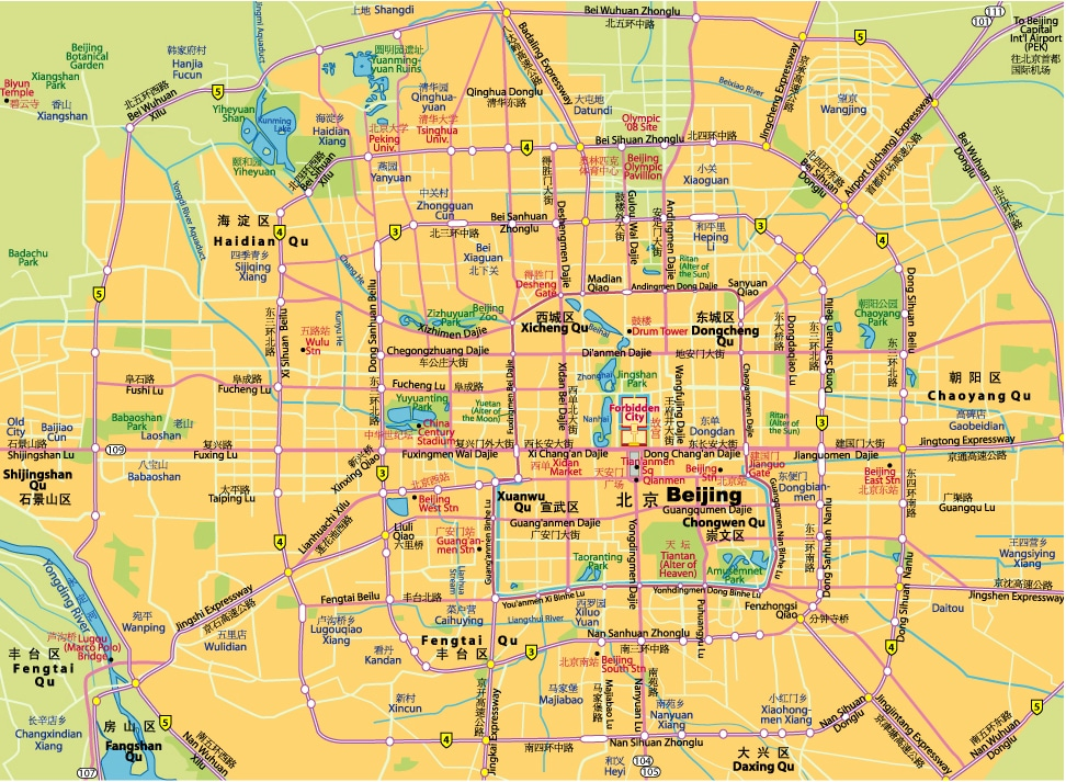 Beijing travel maps 20122013 Printable tourist maps Forbidden