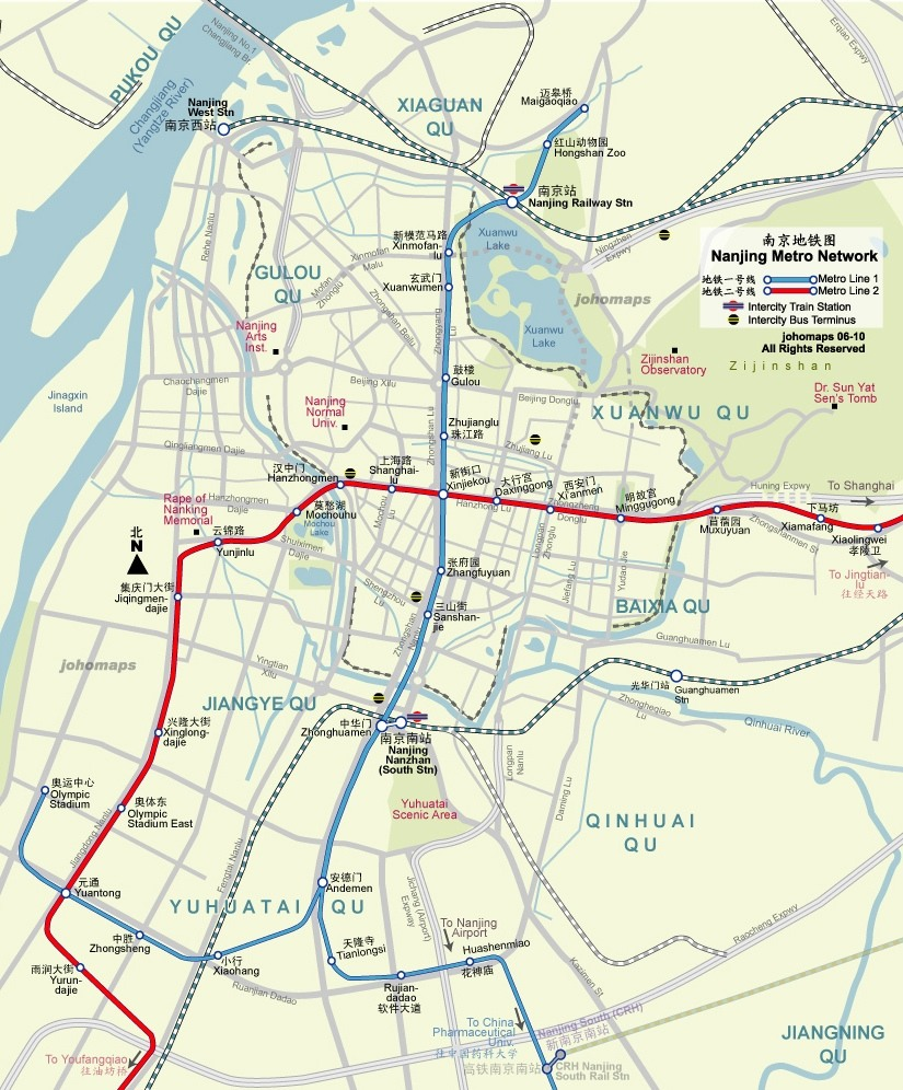 Nanjing Travel Maps 2010 2011 Printable Metro Subway