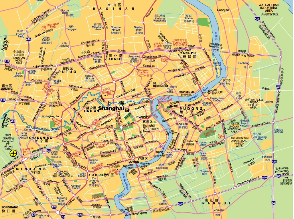 Subway Map Shanghai Tourist.Maps Of Shanghai China Mike