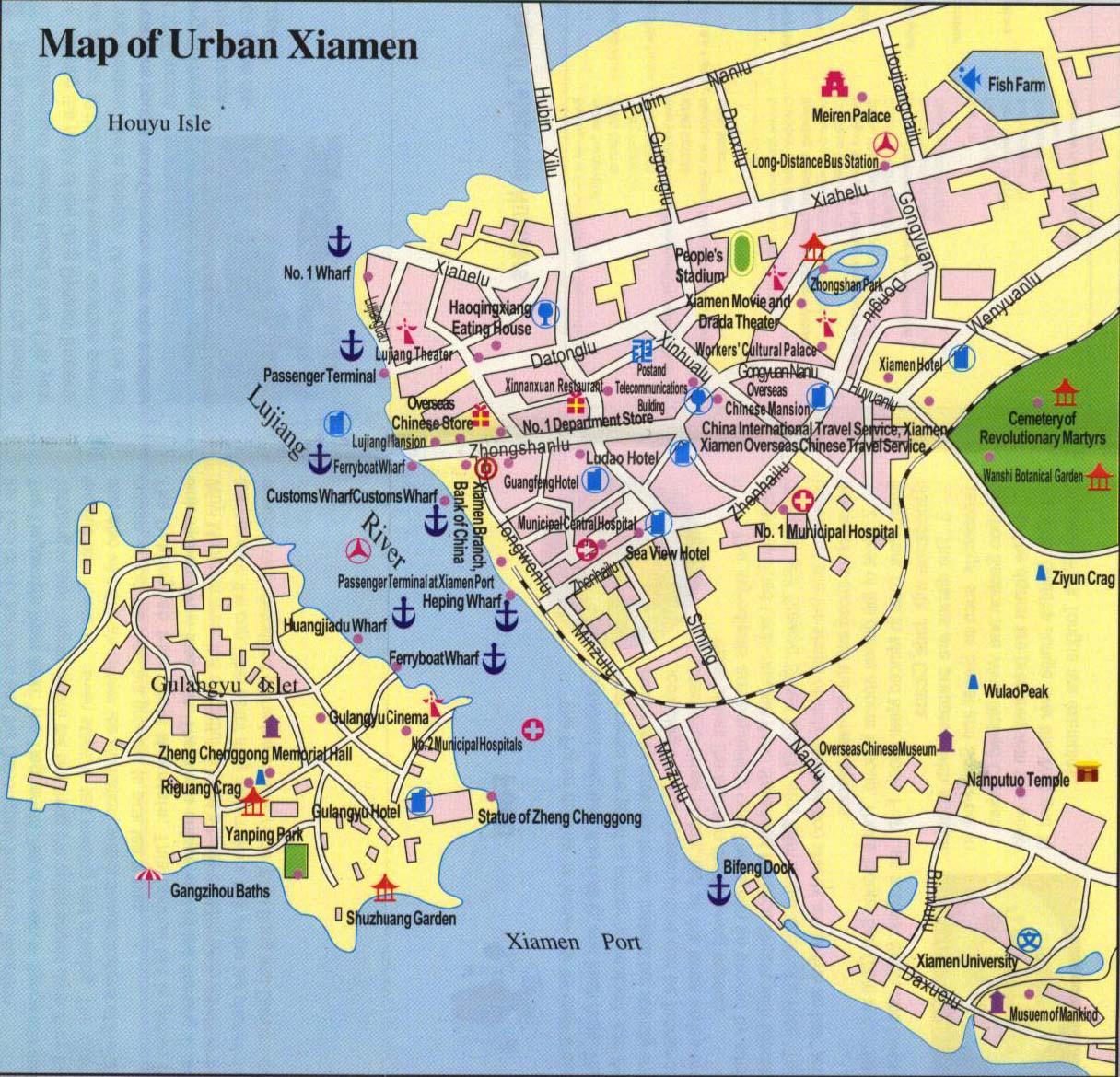 Maps of Xiamen & Gulangyu | China Mike