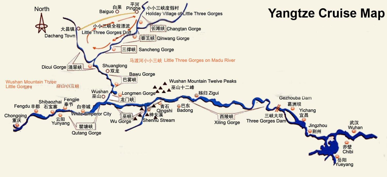 maps of yangtze river area