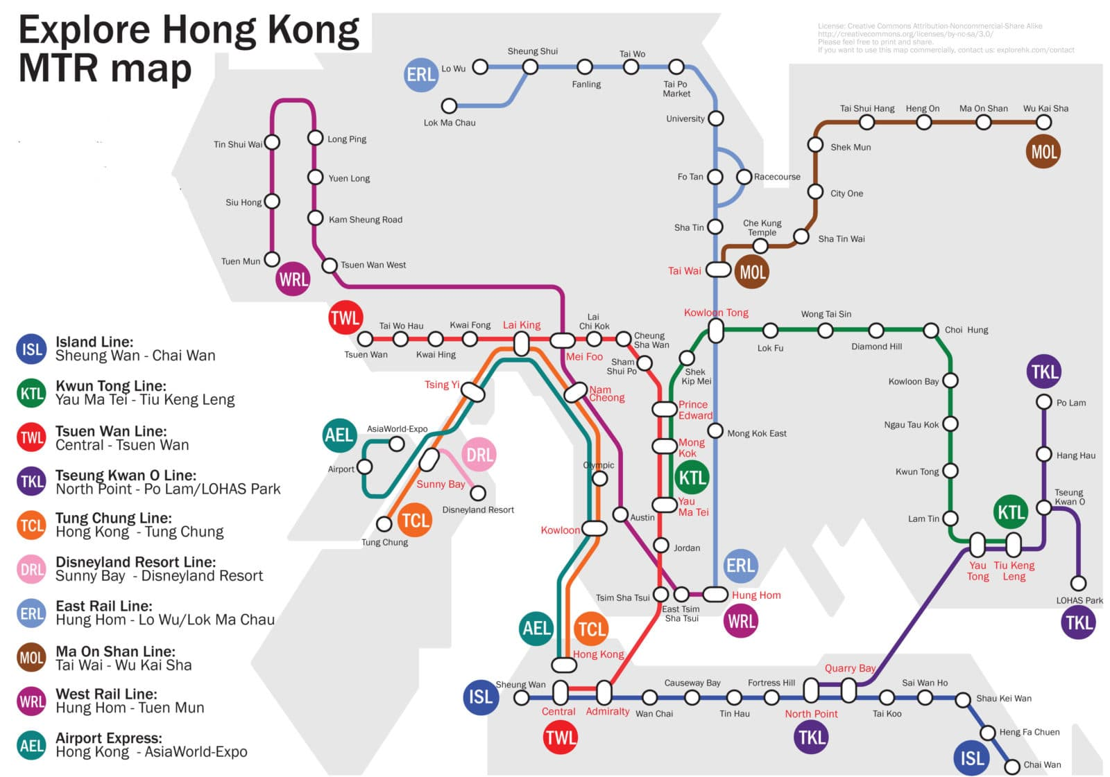 Hong Kong MTR Map 20122013 – Hong Kong Map For Tourist