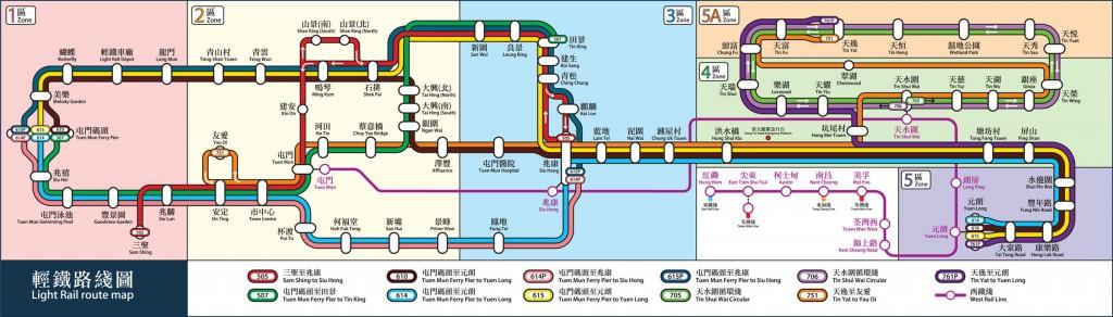 Hong Kong light rail map
