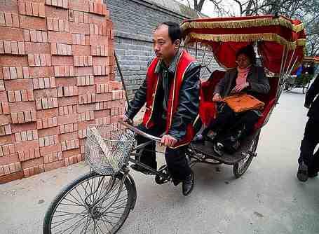 Chinese pedicab driver