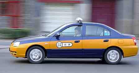 A real Chinese taxi cab