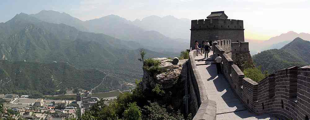 Restored section of the Badaling Great Wall of China
