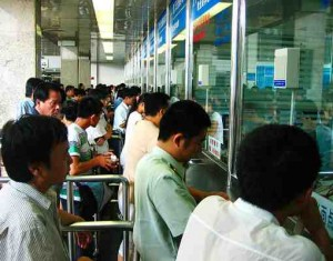 buying train ticket small 300x235 Rail travel in China — tips on train travel