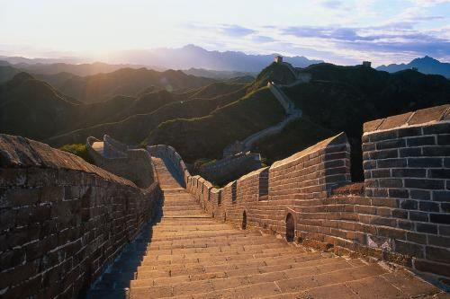 Steps of the Great Wall of China
