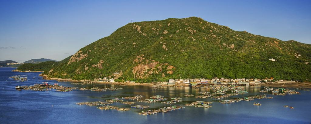 Aerial view of Lamma Island