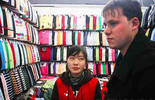 Chinese lady wanting the customers to decide