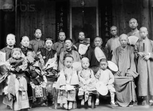 A large Chinese family