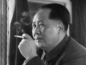 Chinese man smoking a cigarette