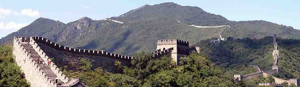 Clear view of Mutianyu section of the Great Wall