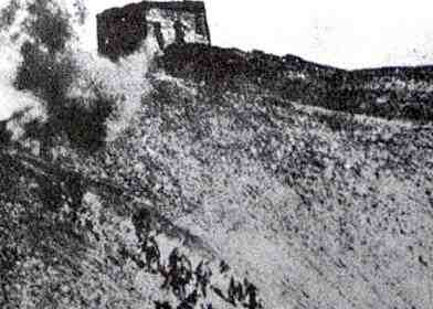 Japanese forces attacking the Great Wall of China