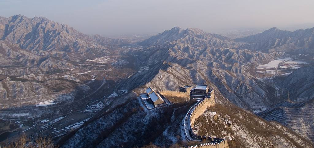 The Great Wall of China during winter
