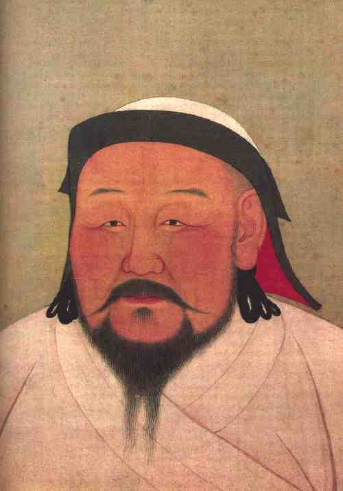 A painting of a Mongol ruler.