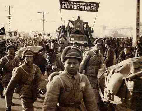 The PLA marches into Beijing in 1949