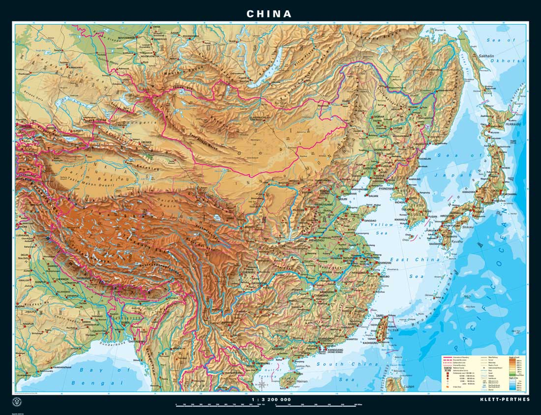 China Topographic Map Downloadable Physical Maps of China by China Mike