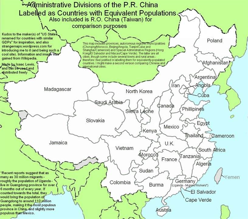 30 charts and maps that explain china today the washington post in fact many chinese provinces have populations equivalent to germany the philippines or thailand gumiabroncs