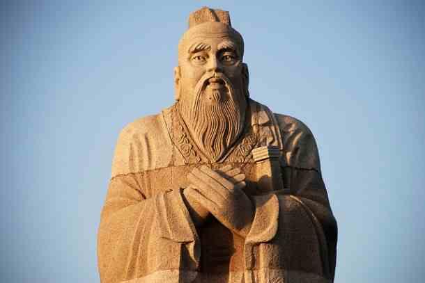 A statue image of Sun Tzu