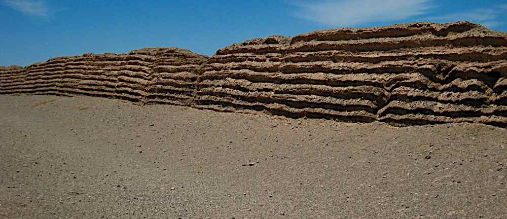 Surviving Great Wall in the desert from the Han Dynasty