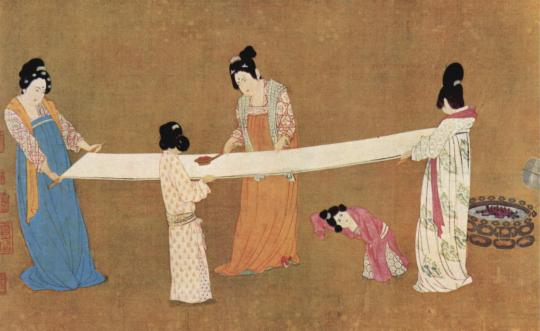 The Chinese invented the process of making silk