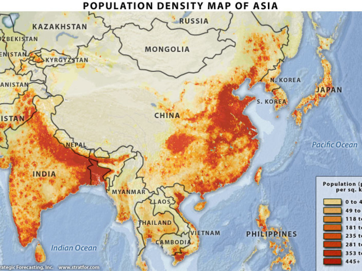 Population Density Map Of China China Population Density Maps (Downloadable Maps)   China Mike