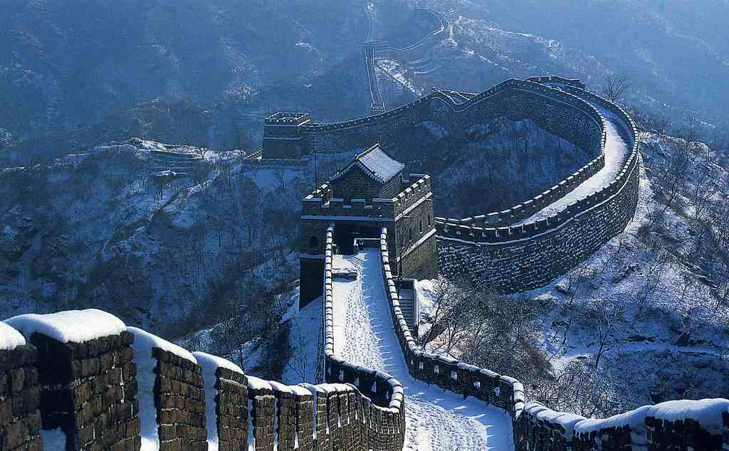 Mutianyu section of the Great Wall in the winter