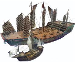 Large Chinese sailing ships