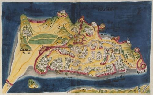 A Map of Macau in 1635.