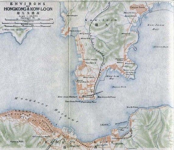 Map of Hong Kong & Kow-Loon