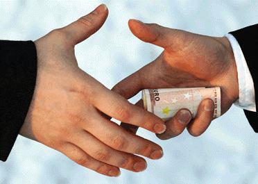 A back door deal involving a bribe.